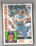 1984 Topps Nestle 792 - SEATTLE MARINERS Team Set