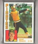 1984 Topps Nestle 792 - PITTSBURGH PIRATES Team Set