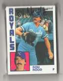 1984 Topps Nestle 792 - KANSAS CITY ROYALS Team Set