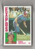 1984 Topps Nestle 792 - MONTREAL EXPOS Team Set