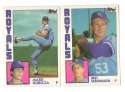 1984 Topps Traded Regular and Tiffany - KANSAS CITY ROYALS Team Set