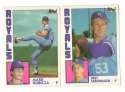 1984 Topps Traded Regular and Tiffany - KANSAS CITY ROYALS Team Set