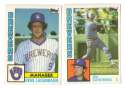 1984 Topps Traded Regular and Tiffany - MILWAUKEE BREWERS Team Set