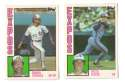 1984 Topps Traded Regular and Tiffany - MONTREAL EXPOS Team Set