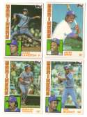1984 Topps Traded Regular and Tiffany - SEATTLE MARINERS Team Set