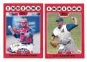 2008 Topps Opening Day - CLEVELAND INDIANS Team Set