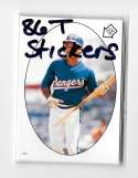 1986 Topps Stickers - TEXAS RANGERS Team Set