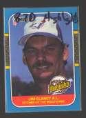 1987 Donruss Highlights - TORONTO BLUE JAYS Team Set