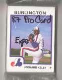 1987 ProCards Minor League Team Set - Burlington EXPOS
