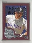 1996 Emotion-XL - COLORADO ROCKIES Team Set