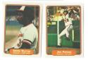 1982 Fleer BALTIMORE ORIOLES Team Set w/o Ripken