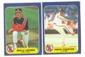 1984 - 1992 Fleer Updates (9 years) CALIFORNIA ANGELS Team set