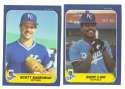 1984 - 1992 Fleer Updates (9 years) KANSAS CITY ROYALS Team Set