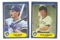 1984 - 1992 Fleer Updates (9 years) MILWAUKEE BREWERS Team Set