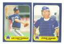 1986 Fleer Update, Topps Traded and Donruss Rookies (all 3 sets) SEATTLE MARINERS Team Set