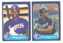 1986 Fleer Update, Topps Traded and Donruss Rookies (all 3 sets) TEXAS RANGERS Team Set