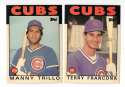 1986 Topps Traded Regular and Tiffany CHICAGO CUBS Team Set