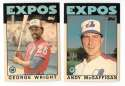 1986 Topps Traded Regular and Tiffany MONTREAL EXPOS Team Set
