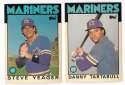 1986 Topps Traded Regular and Tiffany SEATTLE MARINERS Team Set
