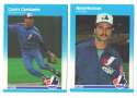1987 Fleer Update, Topps Traded and Donruss Rookies (all 3 sets) MONTREAL EXPOS Team Set