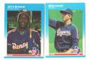 1987 Fleer Update, Topps Traded and Donruss Rookies (all 3 sets) TEXAS RANGERS Team Set
