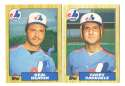1987 Topps Traded Regular and Tiffany MONTREAL EXPOS Team Set