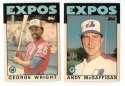 1986 Topps Traded TIFFANY - MONTREAL EXPOS Team Set
