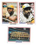 1978 Topps PITTSBURGH PIRATES Team Set