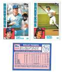 1984 Topps Tiffany - MILWAUKEE BREWERS Team Set
