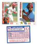 1984 Topps Tiffany - ST LOUIS CARDINALS Team Set