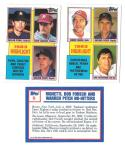 1984 Topps Tiffany - '83 Highlights 3 card lot w/ Nolan Ryan, Bench, Yaz