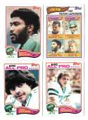 1982 Topps Football Team Set - NEW YORK JETS