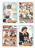 1982 Topps Football Team Set - CHICAGO BEARS