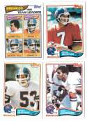 1982 Topps Football Team Set - DENVER BRONCOS