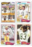 1982 Topps Football Team Set - GREEN BAY PACKERS