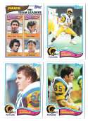 1982 Topps Football Team Set - LOS ANGELES RAMS