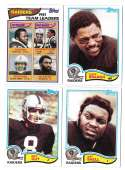 1982 Topps Football Team Set - OAKLAND RAIDERS
