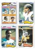 1982 Topps Football Team Set - SAN DIEGO CHARGERS