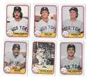 1981 FLEER - BOSTON RED SOX Team Set