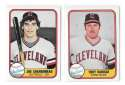 1981 FLEER - CLEVELAND INDIANS Team Set