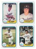 1981 FLEER - LOS ANGELES DODGERS Team Set