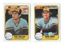1981 FLEER - MILWAUKEE BREWERS Team Set