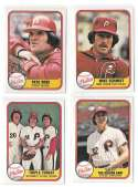 1981 FLEER - PHILADELPHIA PHILLIES Team Set