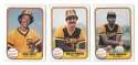 1981 FLEER - SAN DIEGO PADRES Team Set