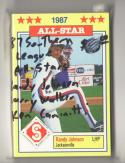 1987 Jennings Southern League All-Stars (Randy Johnson and Larry Walker)