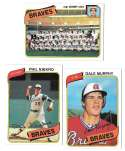 1980 Topps - ATLANTA BRAVES Team Set