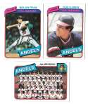 1980 Topps - CALIFORNIA ANGELS Team Set  w/ NOLAN RYAN