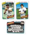 1980 Topps - DETROIT TIGERS Team Set