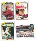 1980 Topps - PHILADELPHIA PHILLIES Team Set