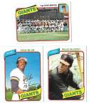 1980 Topps - SAN FRANCISCO GIANTS Team Set